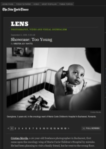 Showcase: Too Young @ NYTimes Blog